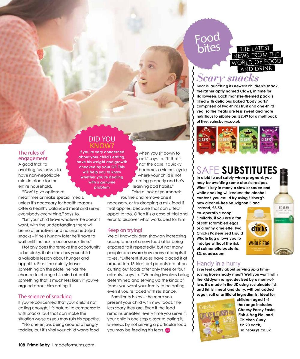Prima Baby Magazine Feature