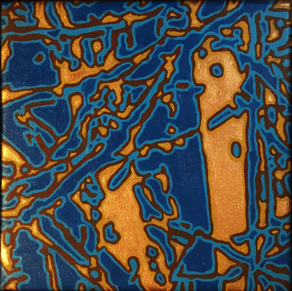 Tanka with Copper and Blue