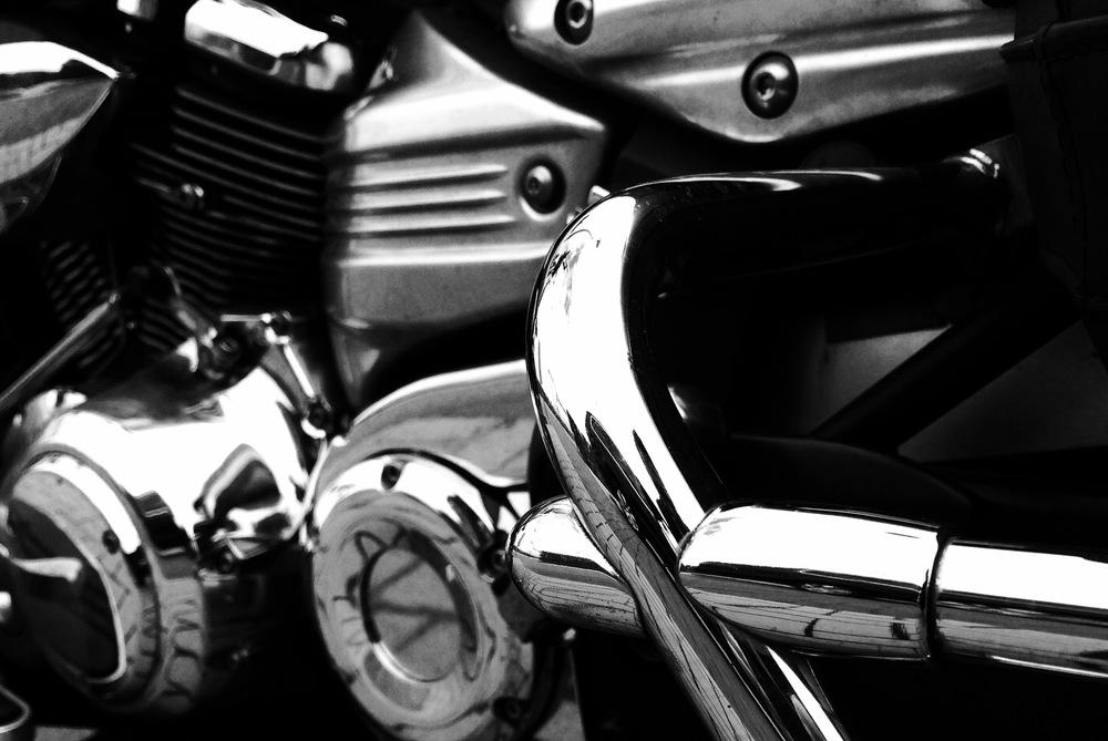 Viewfinder - detail uitlaatpijp motor