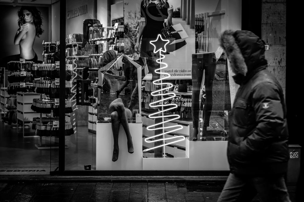 Straatfotografie in Leuven - te druk om mijn idee te realiseren