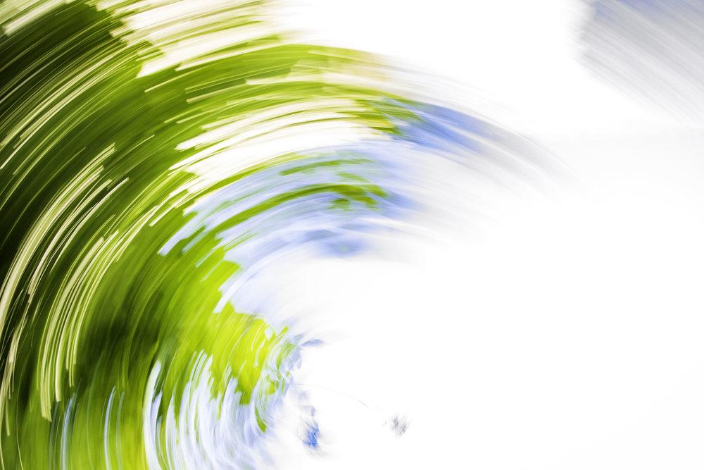 Daytrails is het fotograferen van de bewegende takken van de bomen.