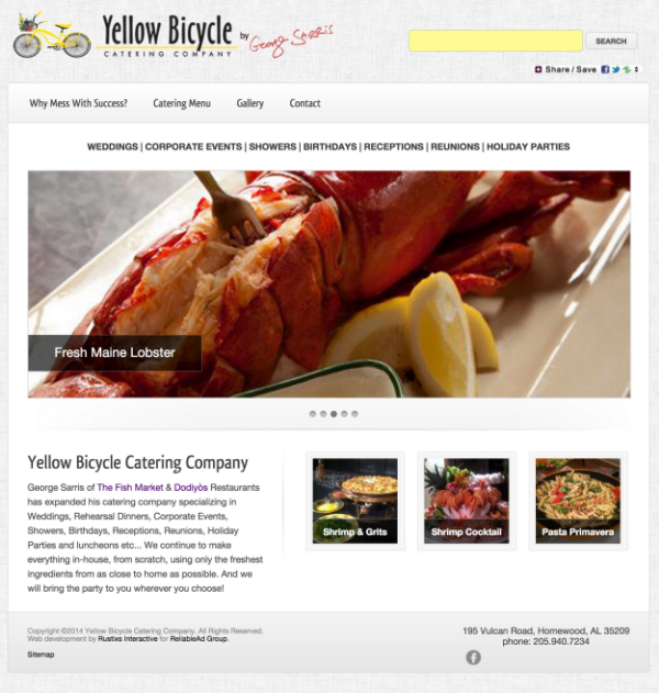 Click to visit our Catering Website - yellowbicyclecatering.com