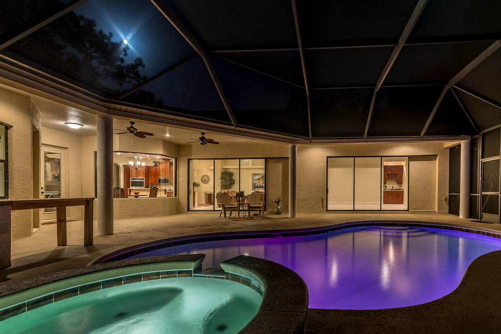 Twilight:$150 - Make your listings unique with our signature lighting and editing techniques. Excellent way to show off pools and views. Limited availability and advance notice required.