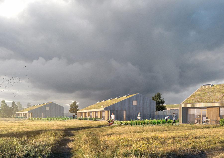 Årslev  Projektet består af 40 almene boliger, bestående af træhuse med grønne tage. Beboerne vil kunne dyrke egne køkkenhaver.   Læs mere →