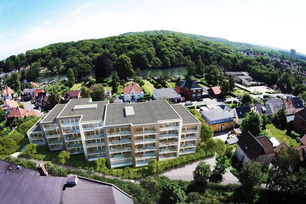 Åviften  Intentionen har været at udforme en moderne bebyggelse, beliggende på kanten mellem midtbyen og naturskønne omgivelser.   Læs mere →