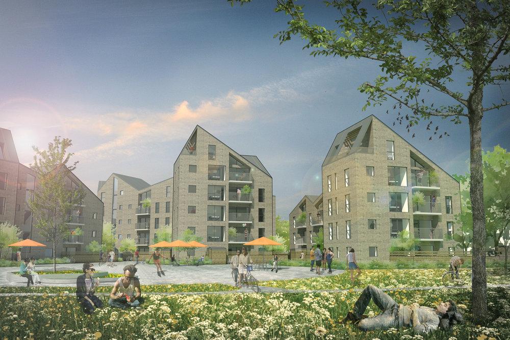 Ovenvande  Ambitionen med Ovenvande ved Lille Sø i Skanderborg er et skabe en markant bydel med nye byrumsdannelser.   Læs mere →