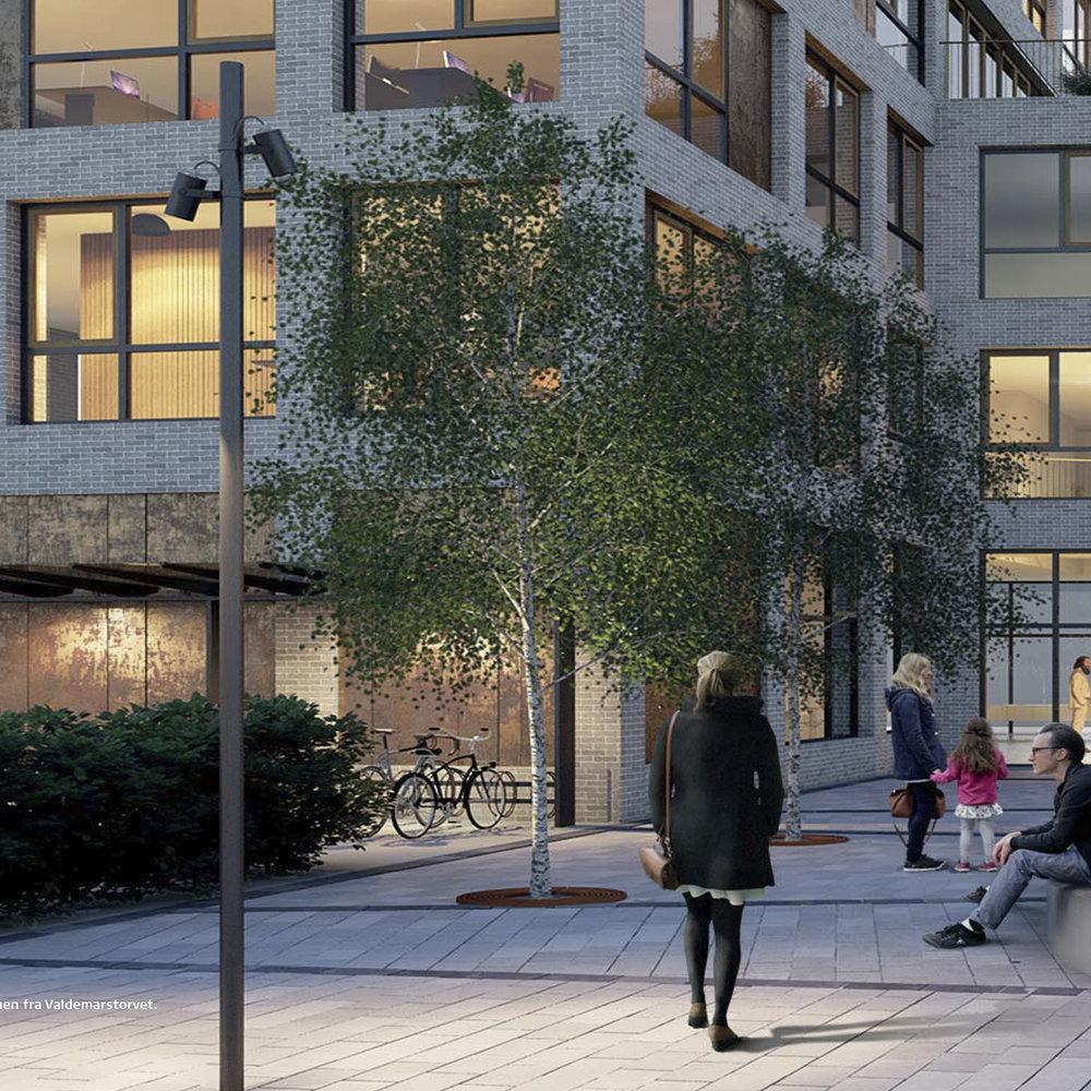 Valdemarstorvet  Det nye Borgercenter på Valdemarstorvet skaber et koblingspunkt mellem bymidten og den øvrige by.   Læs mere →