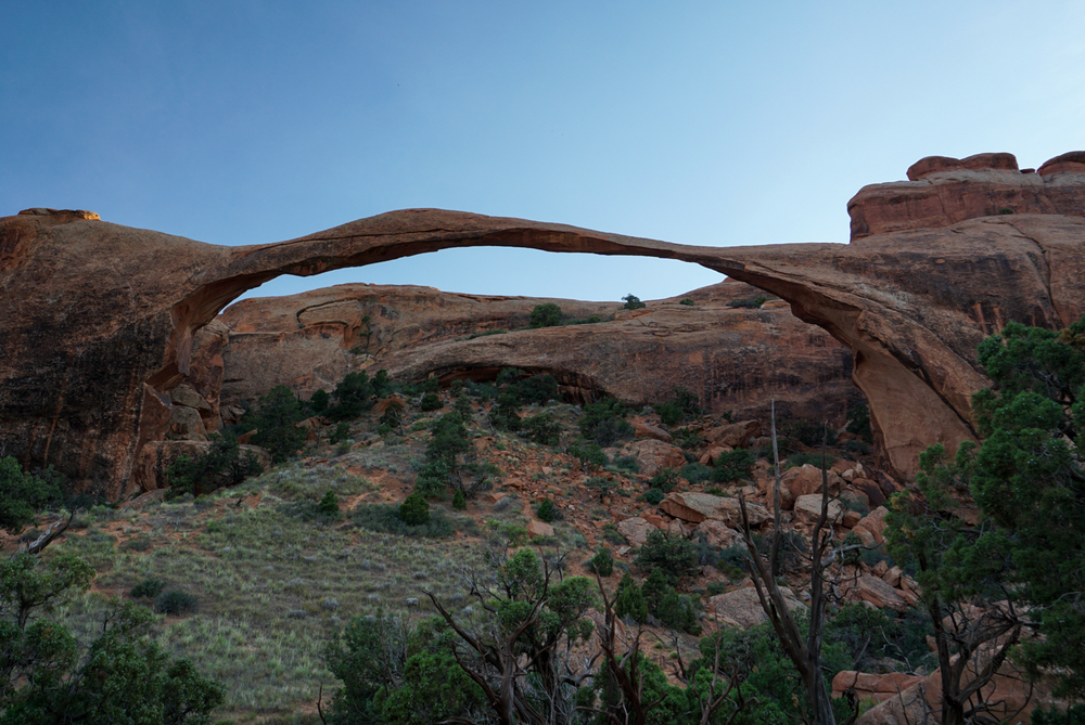 Landscape Arch on the trail to Double-O Arch