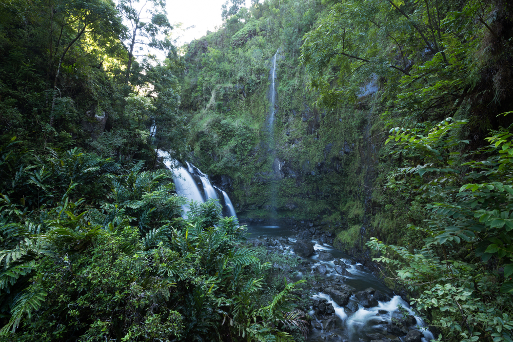 Upper Waikani Falls aka The Three Bears at mile marker 19