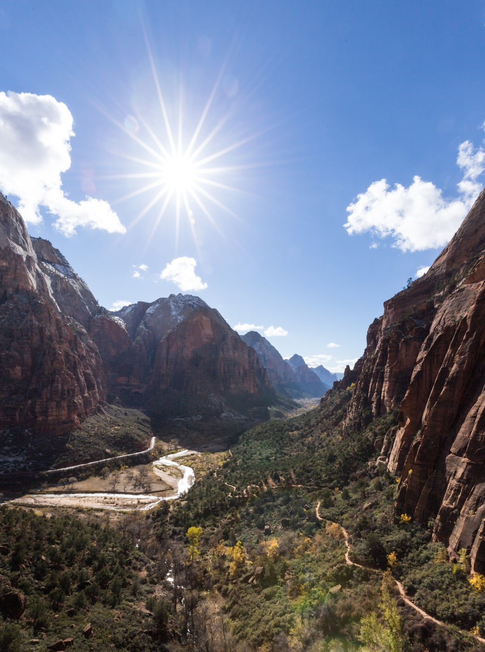 A view from the early portion of the Angels Landing hike