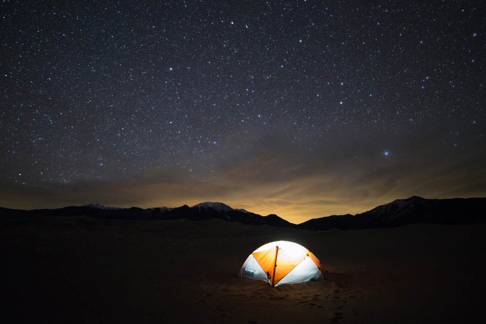 the national parks girl_great sand dunes national park_backcountry camping_mountain hardwear_tangent 2_night sky_night photography_canon6d_long exposure.JPG
