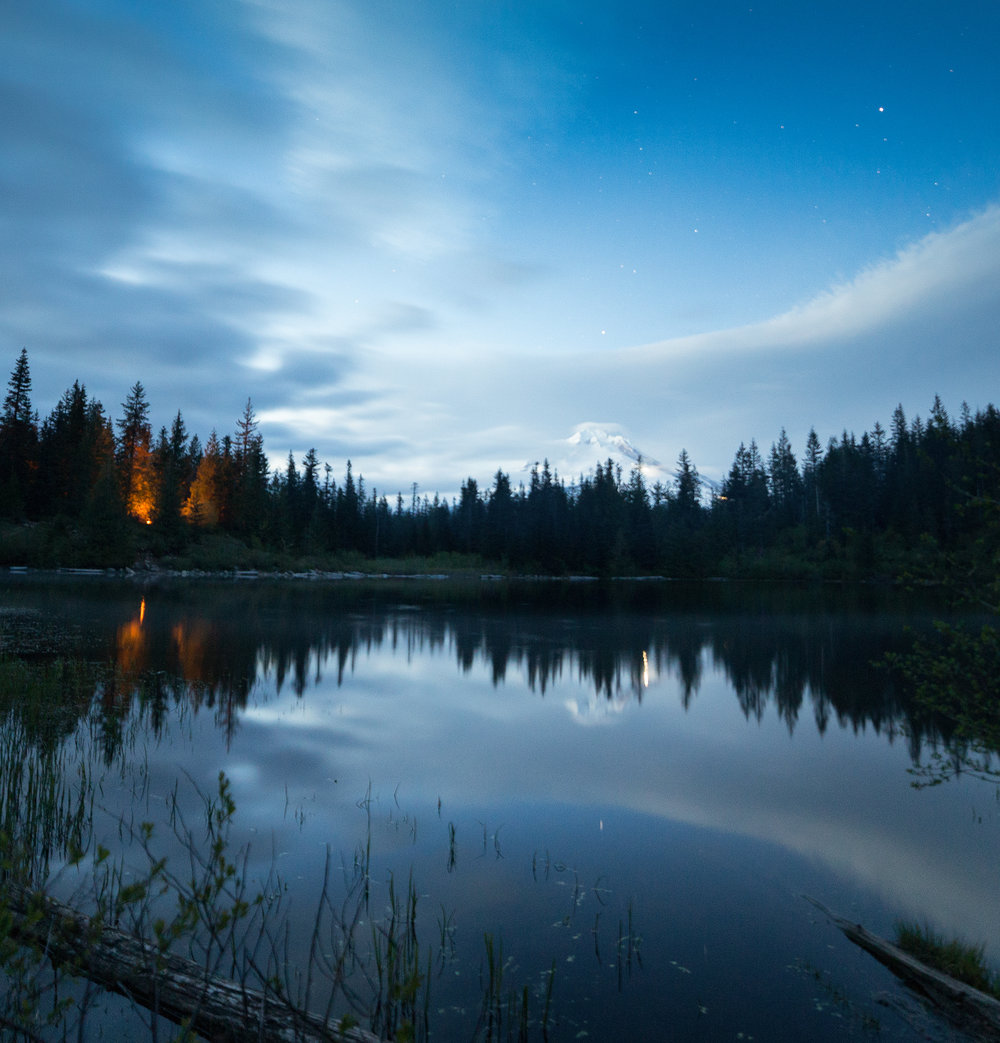 "f/2.8, ISO 640, 13"", Mt. Hood National Forest, 5/28/16, 10:30pm."