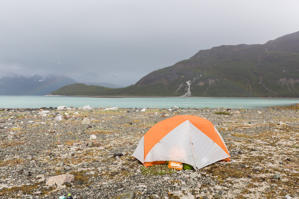 Camp in Reid Inlet