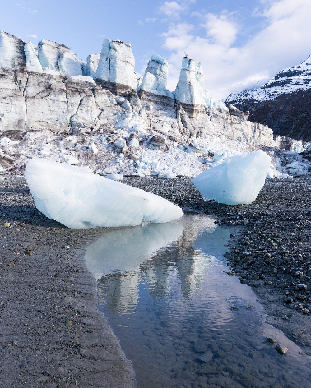 Lamplugh Glacier reflections