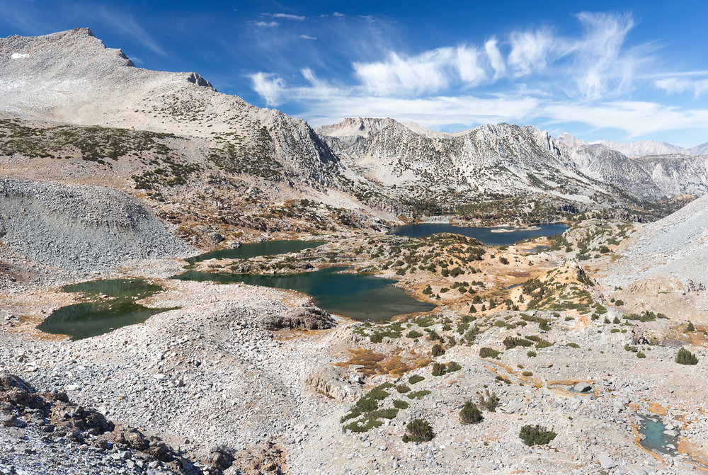 The view from near the top of Bishop Pass
