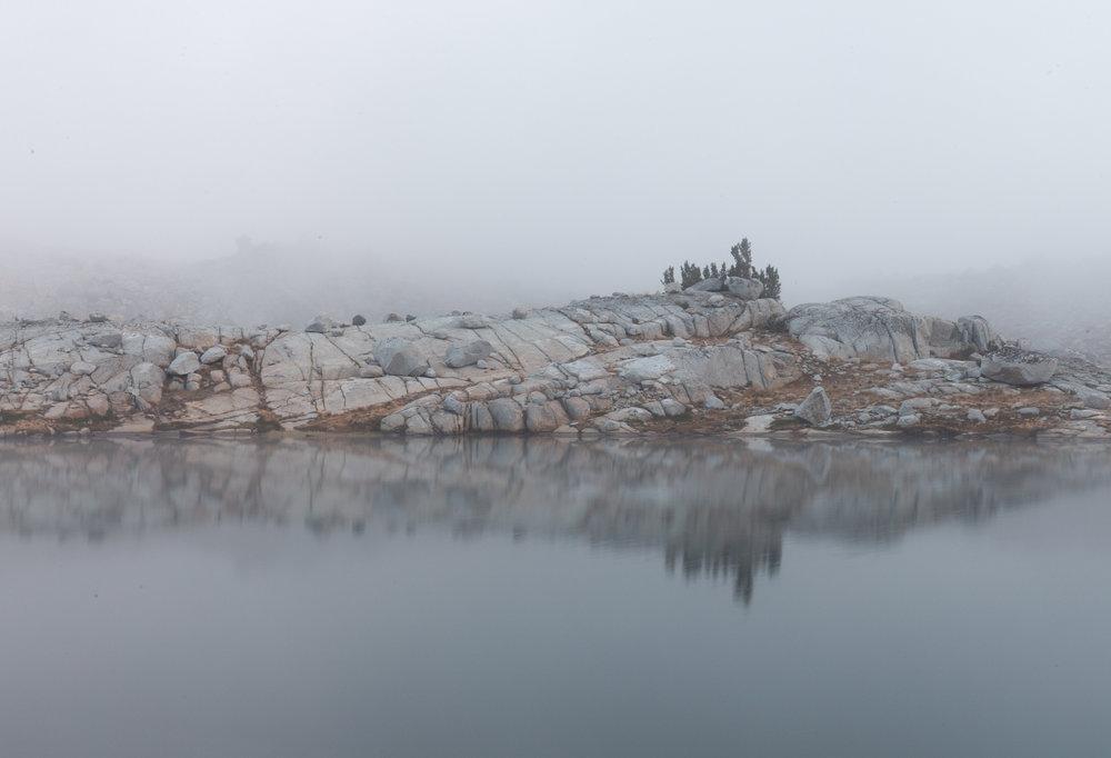 Eerie views in the fog