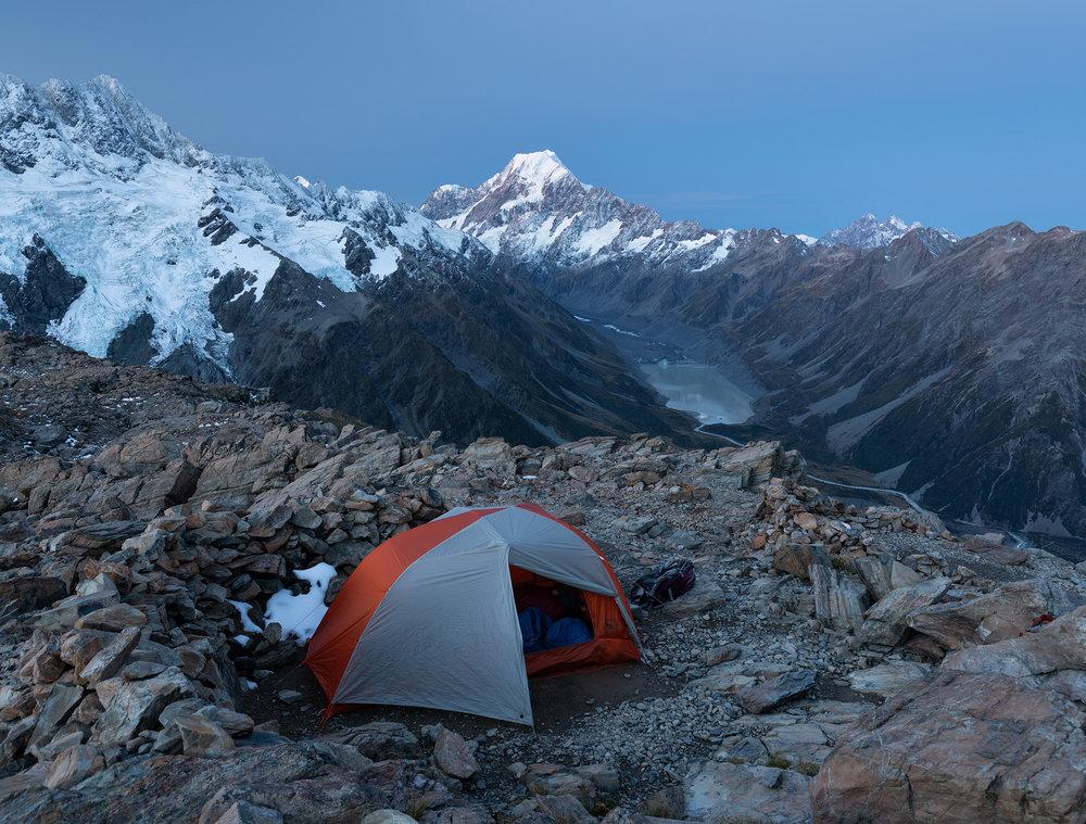 Camp near Mueller Hut