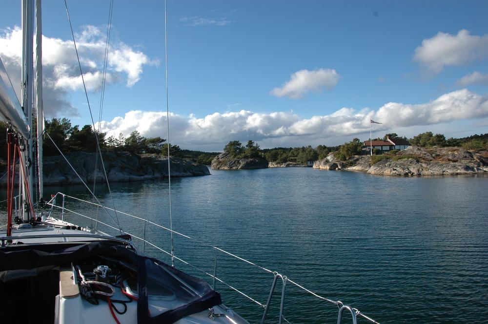 Idyllisk lagune mellom Kristiansand og Lillesand