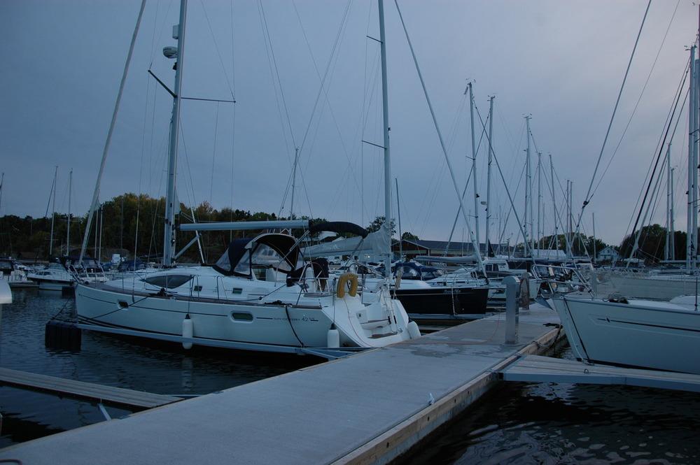 Båten trygt i hjemmehavnen på Skjæløy