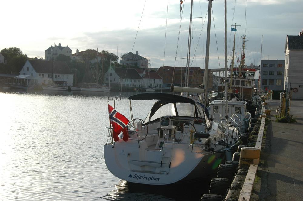 Stjerneglimt fortøyd i Haugesund