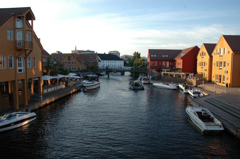 Kanalen mellom Odderøya og byen