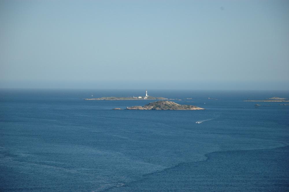 Utsikt fra Batteriet mot Oksøy fyr