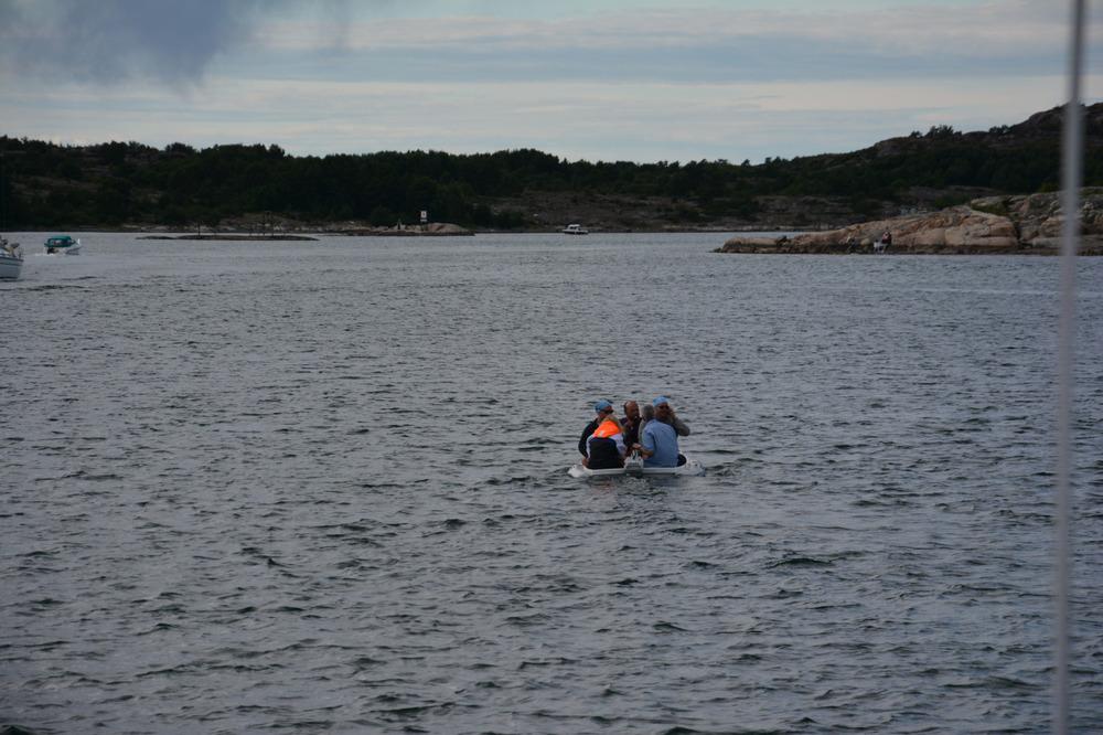 Idioter i båt ved Grebbestad