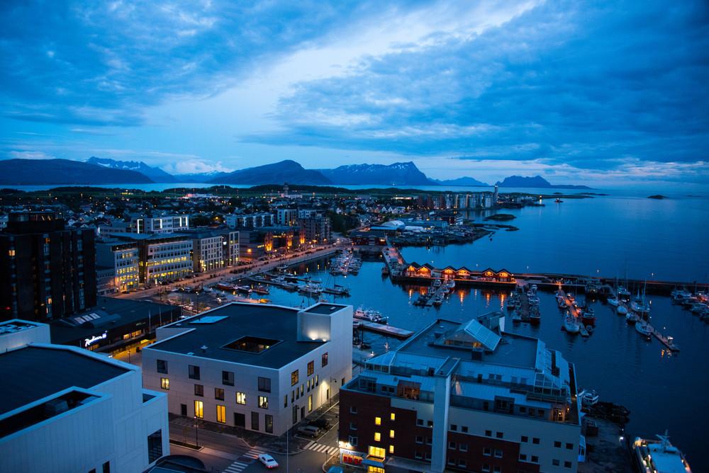 Fra takterrassen på Scandic...Bodø
