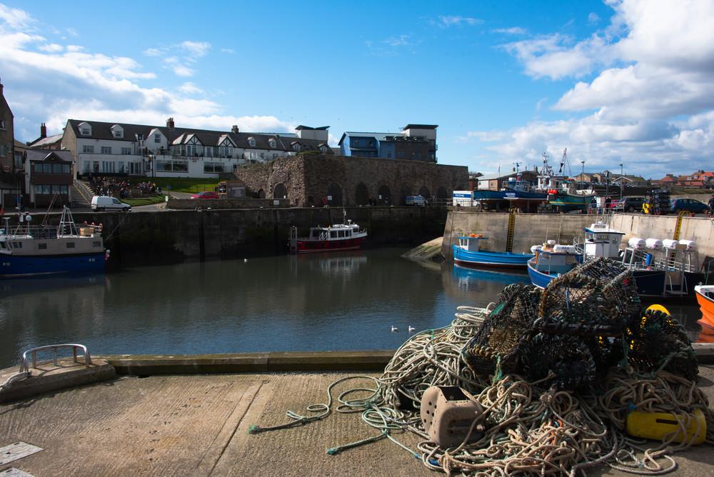Fiskehavna i Seahouses