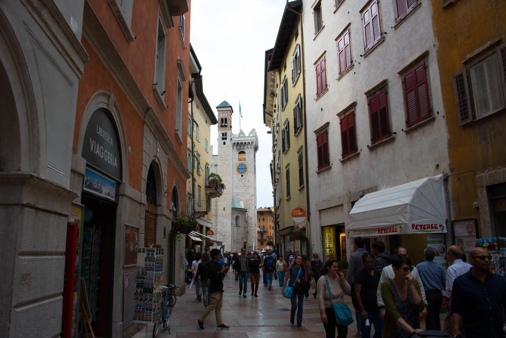Gågata i Trento-en av dem