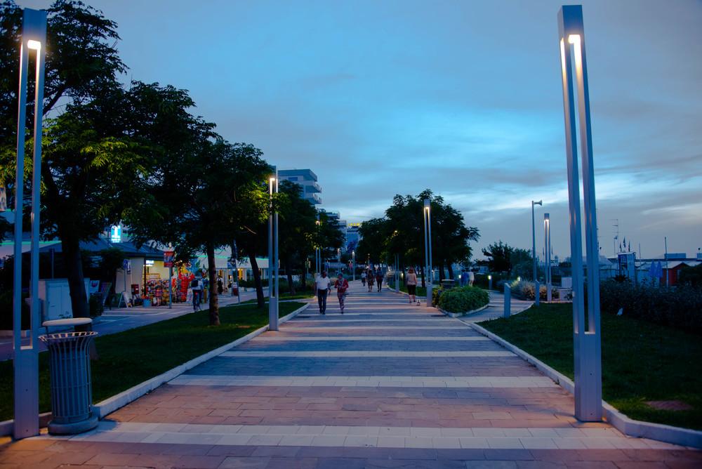 Strandpromenaden til Riccione