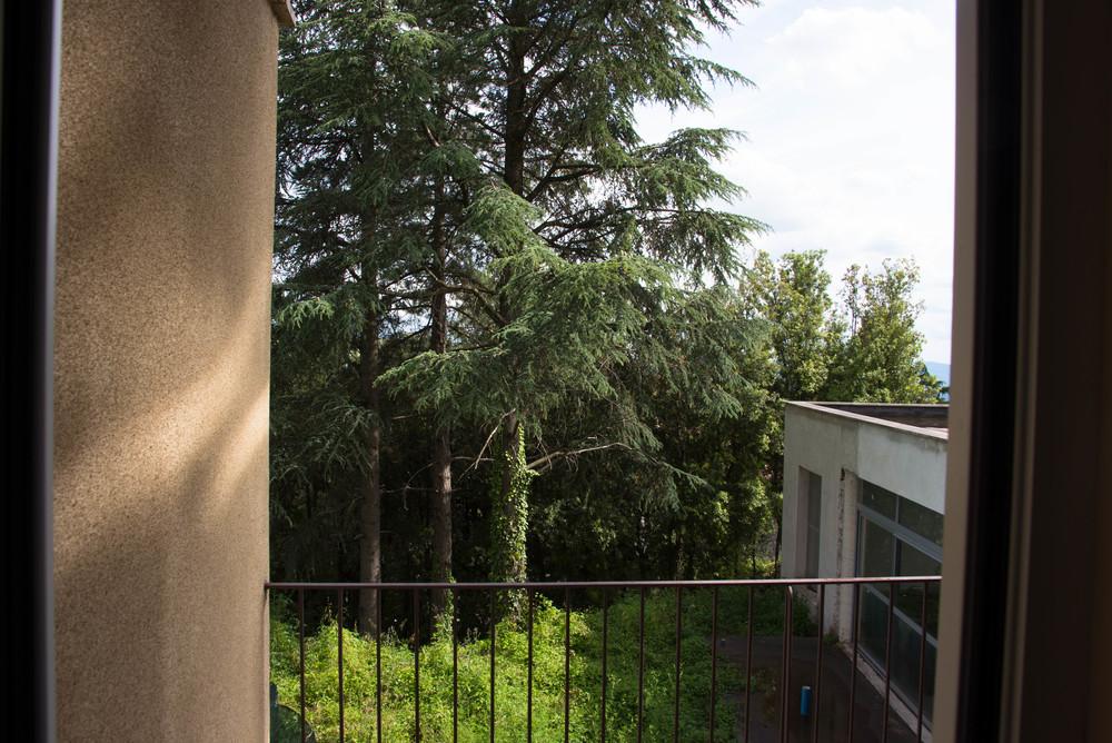 Herlig utsikt fra balkongen