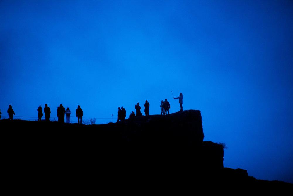 Silhuetter ved Gullfoss