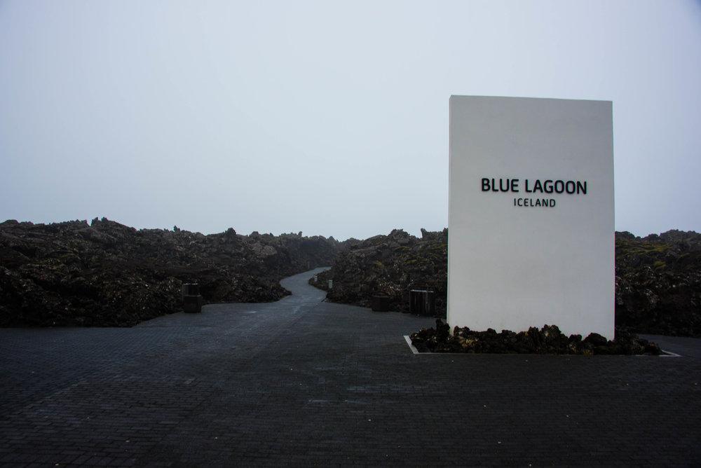 Inngangspartiet til den blå lagune