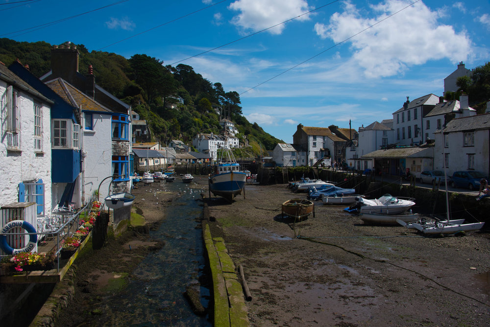 Havna i Polperro - tom for vann