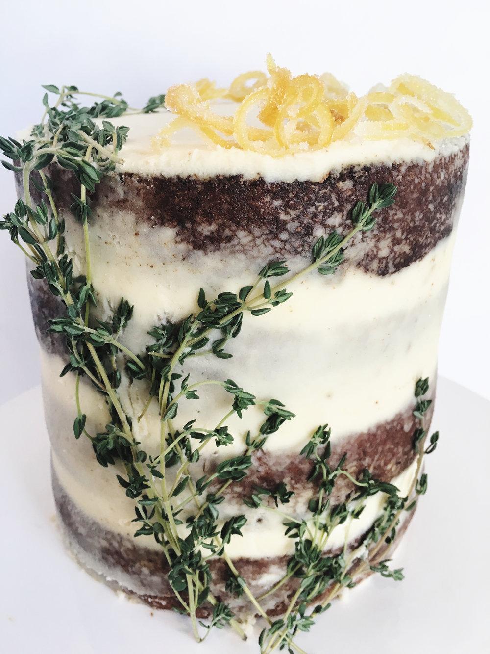 Lemon Thyme Buttercream Cake