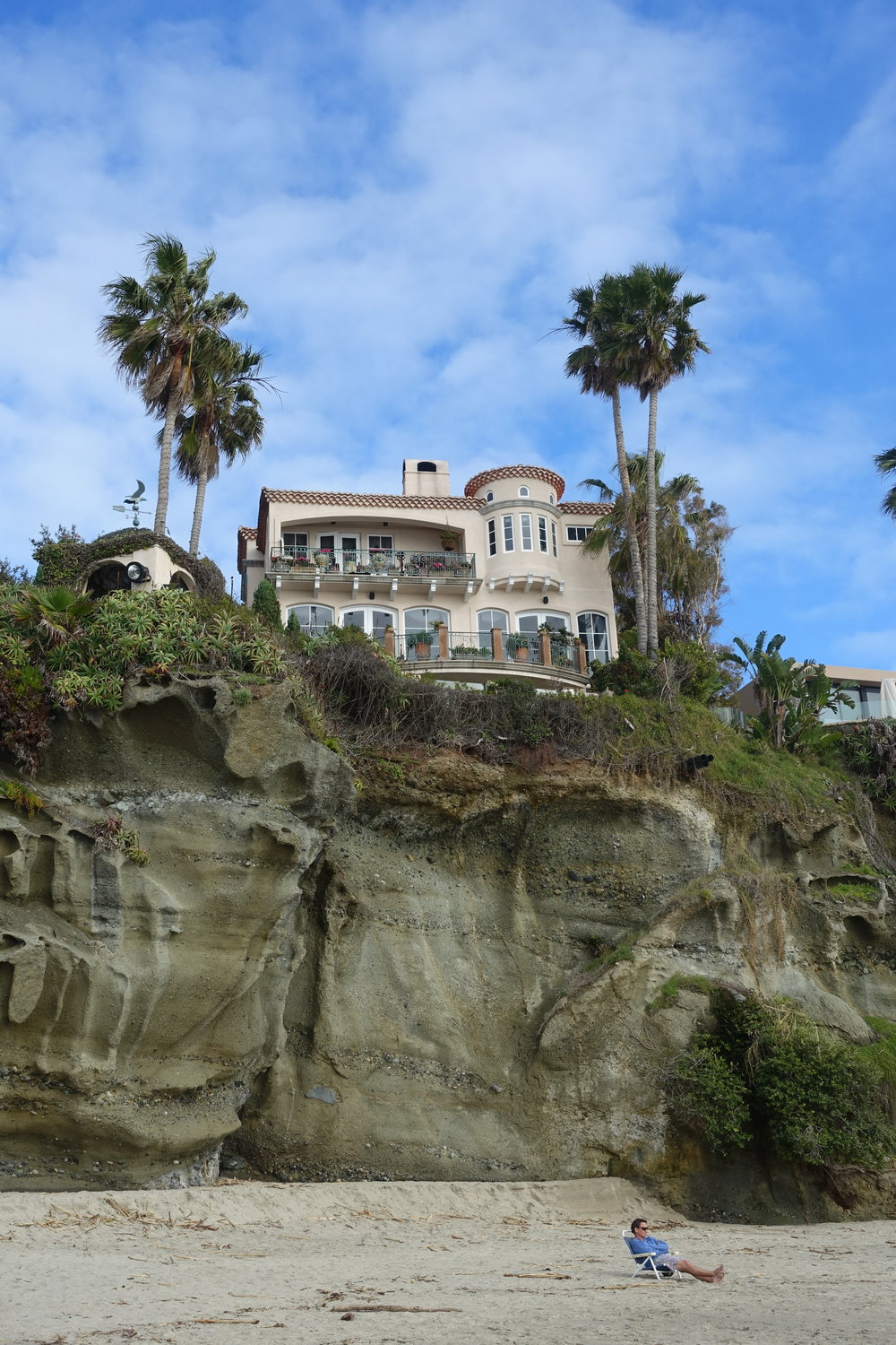 Laguna Beach, where the rich come to be idle in the lap of California coastal luxury.