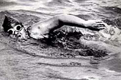 Sunny Lowry, swimming the Channel in 1933