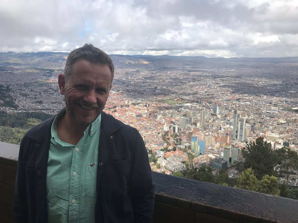 The view from Monserrate of Bogota's urban sprawl.