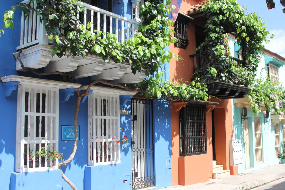 The houses of Cartagena's old town.