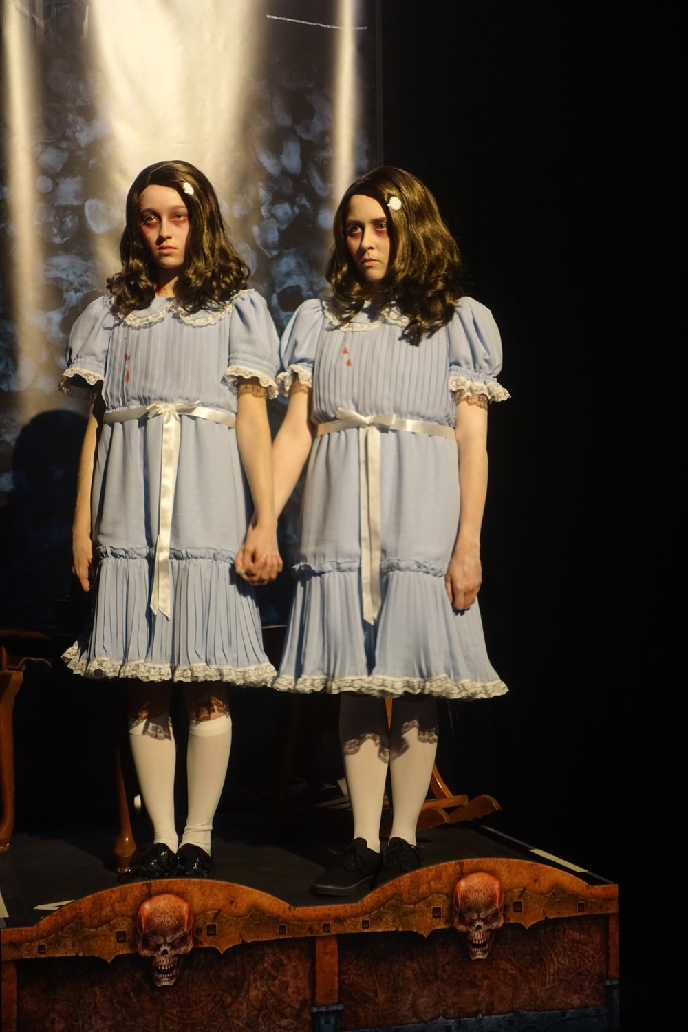 The Grady Twins from  The Shining.  No, nothing creepy about them  at all.
