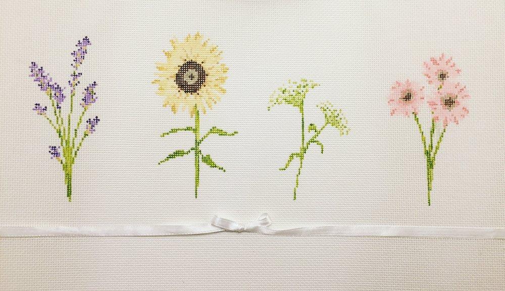 "Wildflowers 15AA   11.5""4.5"" on 18 mesh"