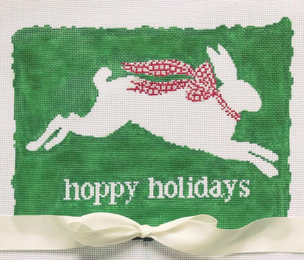"""Hoppy Holidays DV-1   8"""" x 6.5"""" on 18 mesh"""