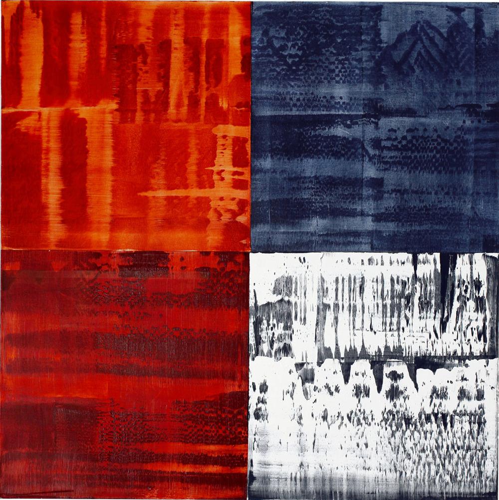 Ricardo Mazal   Kora C8 , 2010 Oil on Linen 50 x 50 inches