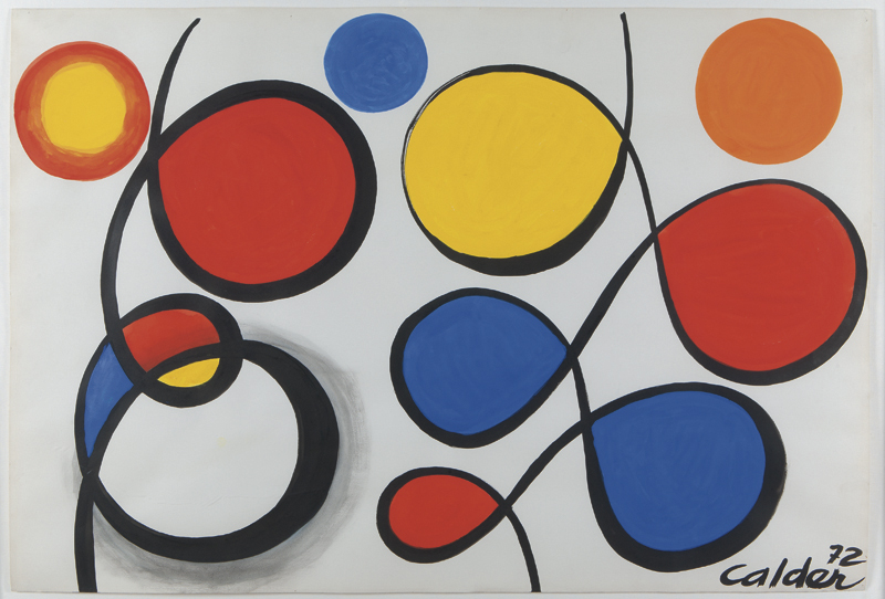 Alexander Calder   Spirals and Circles, 1972 Gouache on paper 29 x 43 inches