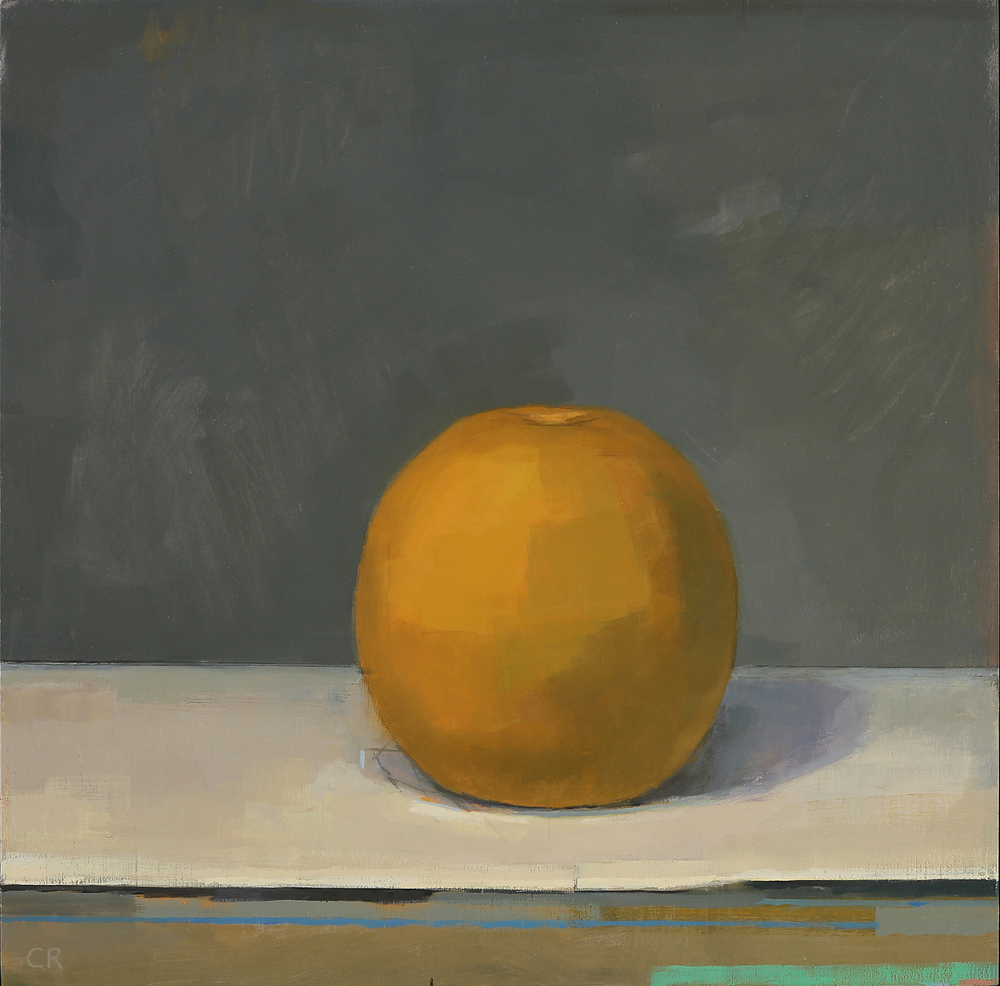 Claudia Rilling   Orange 4.06,  2016 Oil on panel 10 x 10 inches