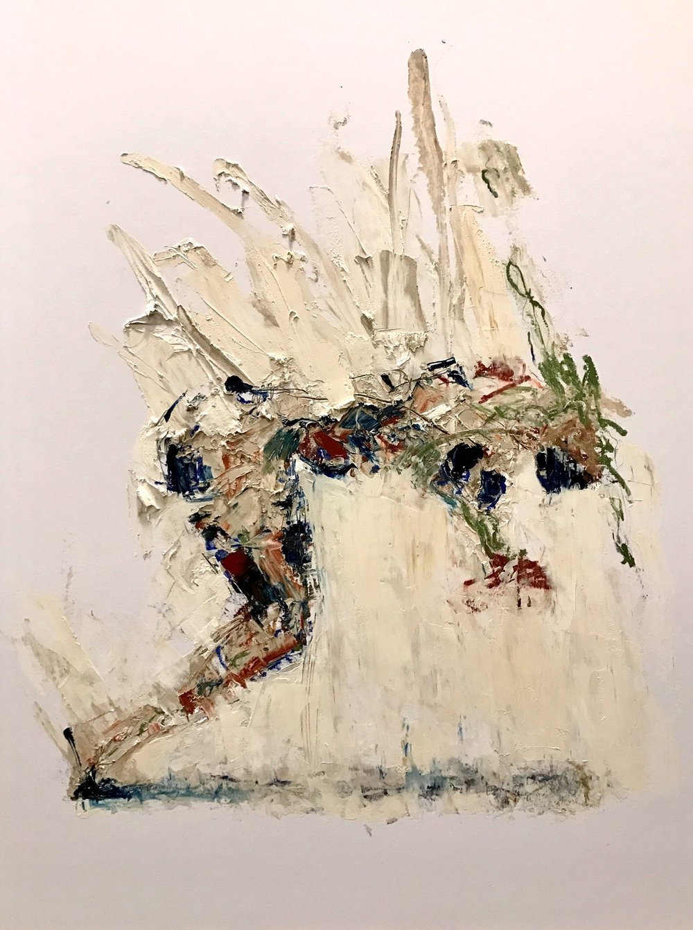 John Goodman     Falling Figure #1,  2017 Oil & Mixed Media on Panel 40 x 30 inches      For More Information     Artist Biography, Exhibitions & Collections