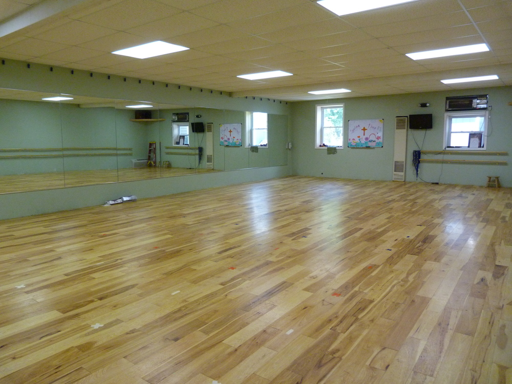 Two professional dance rooms