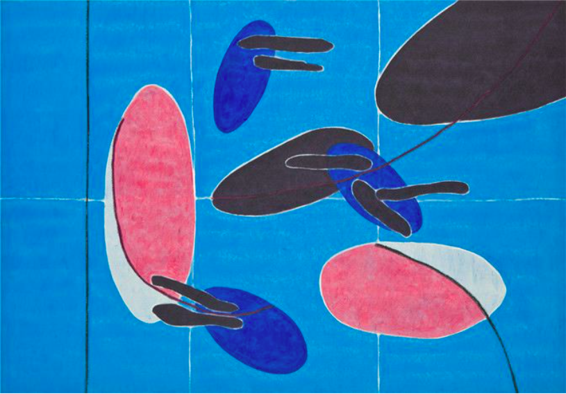 "MARIO VELEZ                     Lot No. 1 ""Eterna Primavera No. 22""     2011 - 2012             Oil and acrylic on canvas 55.12 x 79.53 inches"