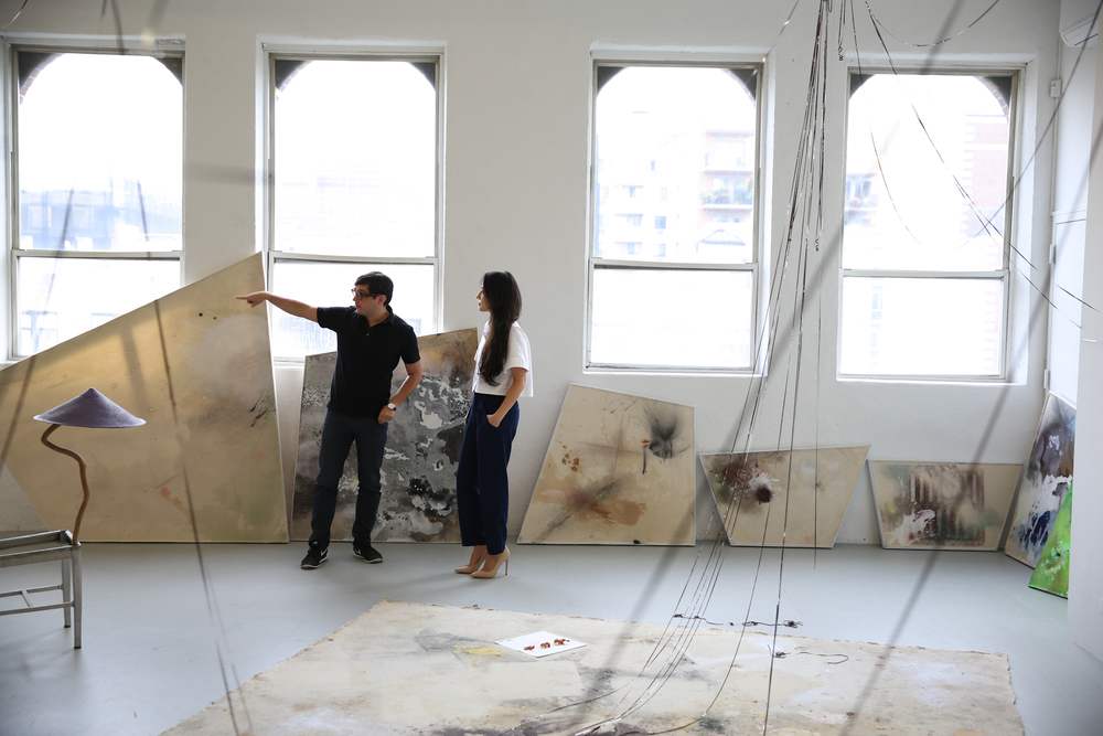 Teriha and David Lewis, at David Lewis Gallery (2015). Photo by Anton Lombardi